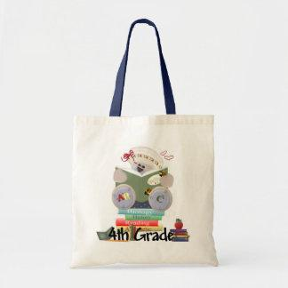 4th Grade Teddy Bear School Gift Tote Bag