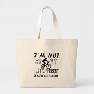 A Little Crazy for Cycling Canvas Bags