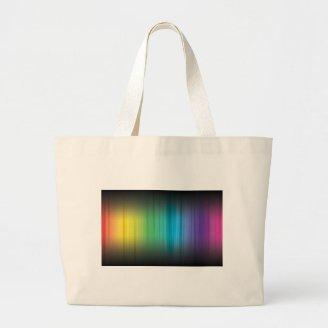 Abstract Rainbow Red Blue Greed Yellow and Orange Tote Bag