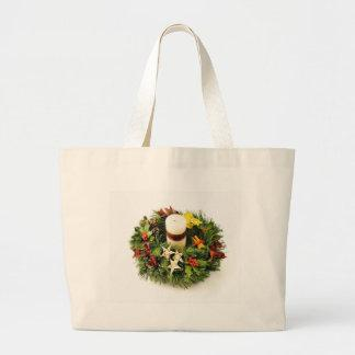 Advent Wreath On White Background Bag