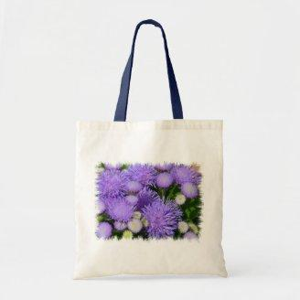 Ageratum Flowers Canvas Bags