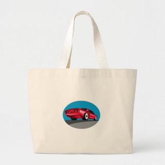 American Muscle Car Oval Retro Large Tote Bag