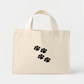 Animal Paw Prints Canvas Bag
