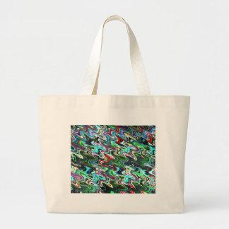 Art Waves for Happy State of Mind Canvas Bags