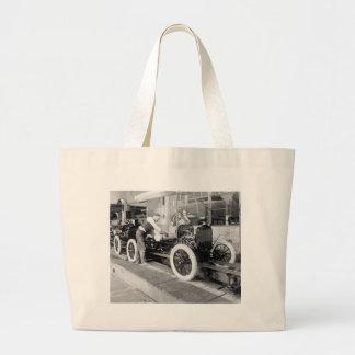 Auto Assembly Line, 1920s Canvas Bag