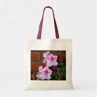 Azalea Blooming By A Brick Wall Tote Bags