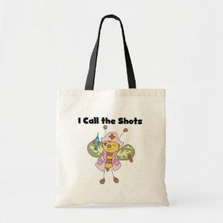Bee Nurse I Call the Shots Tshirts and Gifts Budget Tote Bag