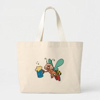 bee with a buzz canvas bags
