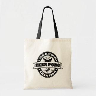 Beer Pong Champion Canvas Bag
