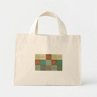 Bicycling Pop Art Canvas Bags