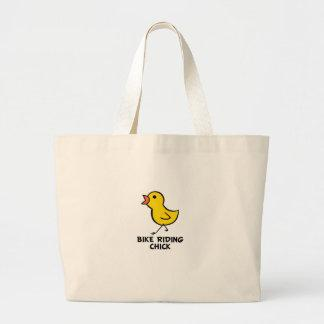 Bike Riding Chick Tote Bag