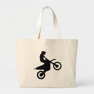 Bike Silhouette.png Canvas Bags