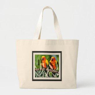 Birds On a Stick Canvas Bag