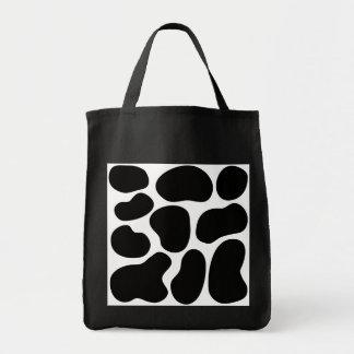 Black and White Cow Print Pattern. Canvas Bag
