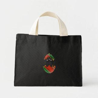 Black Kitty In A Christmas Ornament Canvas Bags
