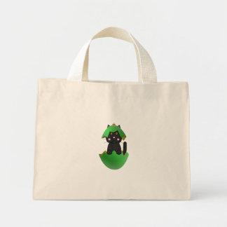Black Kitty In A Green Christmas Ornament Bags