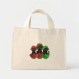 Black Kitty In Christmas Ornaments Canvas Bag