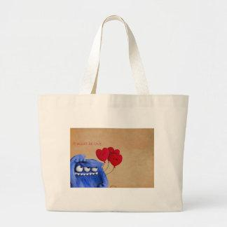 Blue Furry Love with Balloons Bags