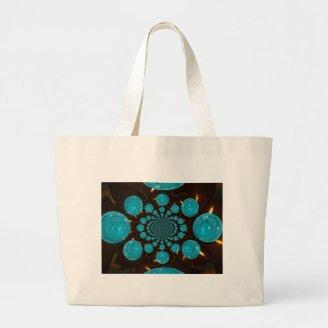Blue Lights Tote Bags