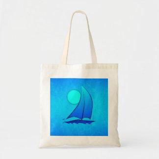 Blue Vector Sailboat Bag