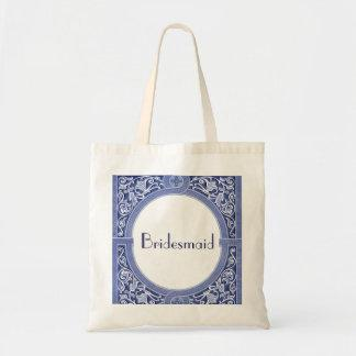 Bridesmaid Bag - Cornflower Blue Vintage Art Deco