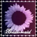 BRIDESMAID Pink Purple Sunflower Wedding Favor Bag