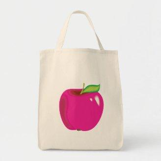 bright apple tote bags