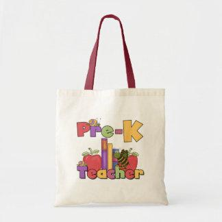 Bugs and Apples Pre-K Teacher Tshirts and Gifts Tote Bag
