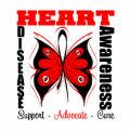 Butterfly Awareness Art Ribbon Heart Disease