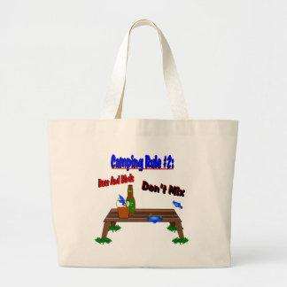 Camping Rule #2 Blue Birds Tote Bags