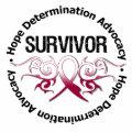Cancer Survivor Tribal Ribbon Throat Cancer