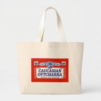 Caucasian Ovtcharka Tote Bags