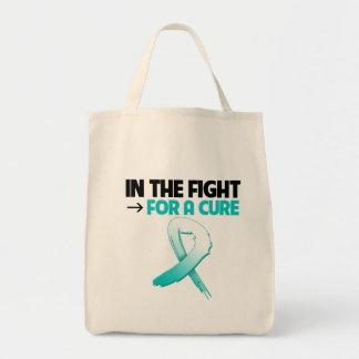 Cervical Cancer In The Fight For a Cure Canvas Bag