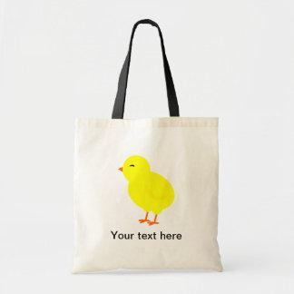 Chirpy the Yellow Baby Chick Tote Bag