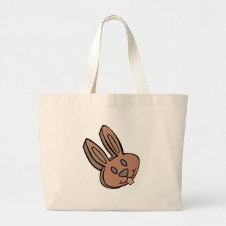 chocolate easter bunny rabbit canvas bags