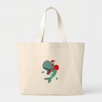 Christmas Whale Tote Bag