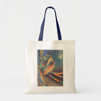 Colorful abstract shapes in space bag