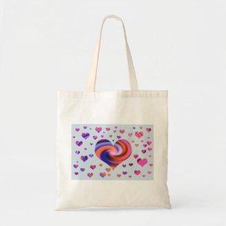Colorful Heart Design Bag