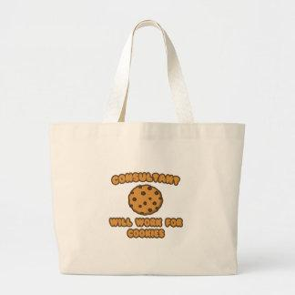 Consultant .. Will Work for Cookies Tote Bag