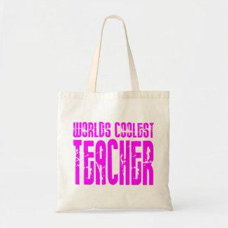 Cool Pink Gifts 4 Teachers Worlds Coolest Teacher Tote Bags