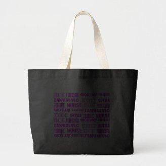 Cool Pink Modern Design 4 Nurses  Positive Words Tote Bag