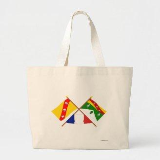 Crossed flags of Lorraine and Vosges Canvas Bags