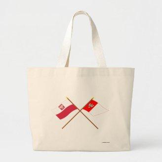 Crossed flags of Poland and Wielkopolskie Canvas Bag