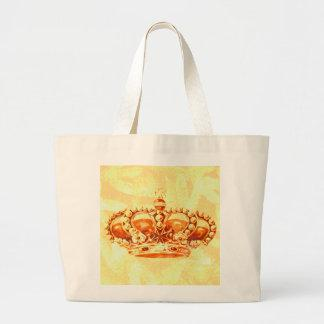 Crown in Gold Tote Bags
