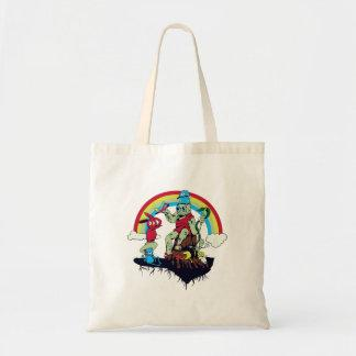 cute king of the friendly monsters vector cartoon tote bag