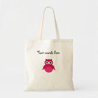 Cute pink owl canvas bags