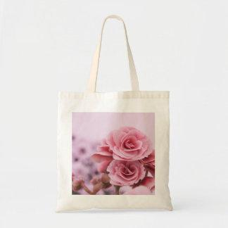 Delicate Pink Flowers Bags