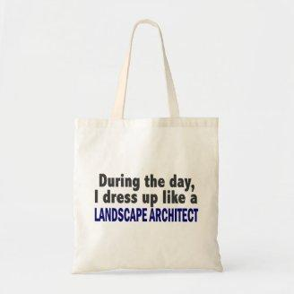 During The Day I Dress Up Like Landscape Architect Canvas Bags