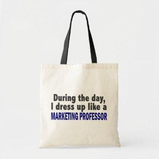 During The Day I Dress Up Like Marketing Professor Tote Bags