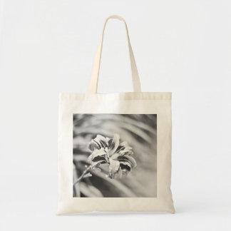Elegant Black and White Flower Photography Bags